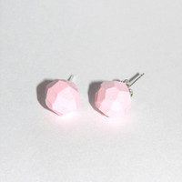 Pastel pink geo earrings