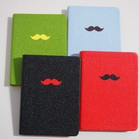 Moustache Leatherette Notebook by HILIVRE