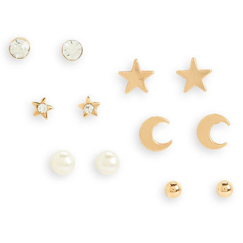 Aeropostale  Night Sky Stud Earring 6-Pack