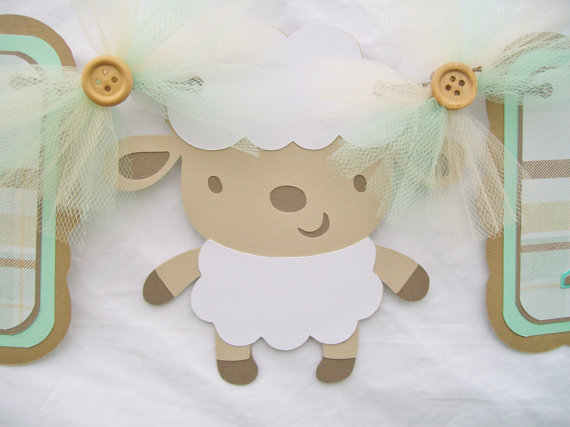 baby shower banner lamb sheep its a from nancysbannerboutique