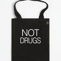 Not Drugs-Unisex Black Tote Bag