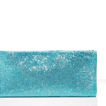 Christian Louboutin - maykimay strass, blue zircon, crystal swarovski, clutch, evening, handbags