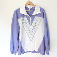 80's Sport Jacket - purple & white