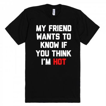 Uh My Friend-Unisex Black T-Shirt