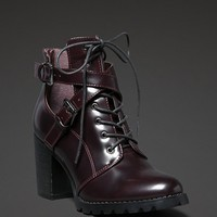 Strappy Combat Bootie
