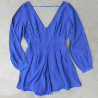 By the Bay Romper in Royal [6679] - $37.80 : Vintage Inspired Clothing & Affordable Dresses, deloom | Modern. Vintage. Crafted.
