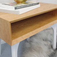 WFOUR Design XS Side Table - Cherry/Flat White