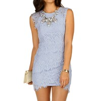 Bat Your Lash Crochet Midi Dress