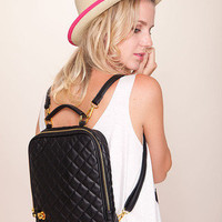 Quilted iPad Backpack | Timeless Boutique