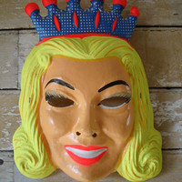 Vintage Queen Mask Halloween Rare Find