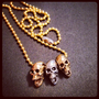 3 Skullz Necklace