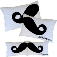 Moustache Pillowcases - Acid Embrace Apparel eStore