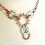 Steampunk Copper & Silver Gear Necklace