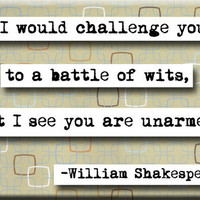 William Shakespeare Quote Magnet (no.174)