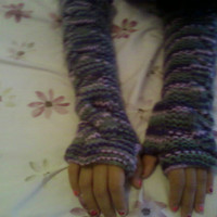 Extra Long Purple Fingerless Gloves By inspirebynancy