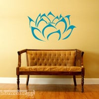 Lotus Blossom - Vinyl Wall Art - FREE Shipping - Fun Wall Decal