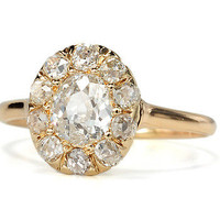 Dazzling Antique Diamond Cluster Ring - The Three Graces