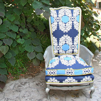 Vintage High Back Chair by HugoandBeatrice on Etsy