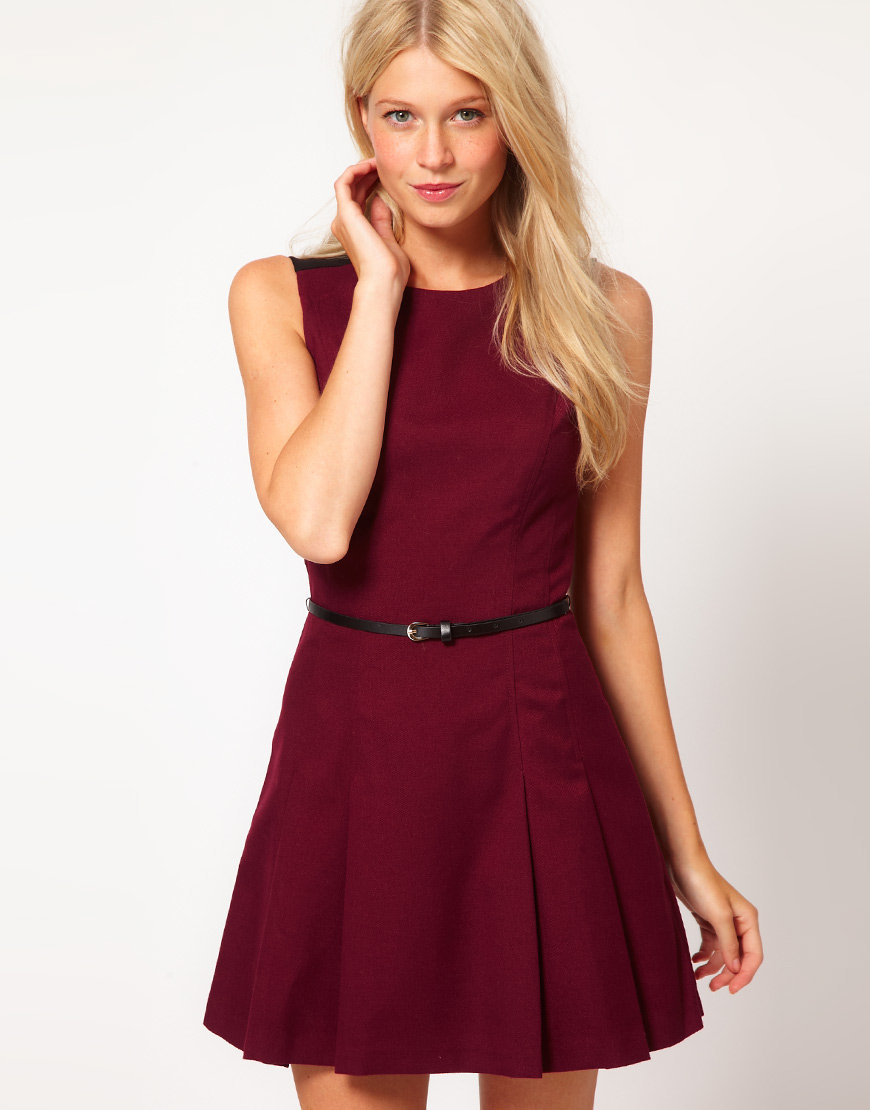 Oasis Fit And Flare Dress at asos.com