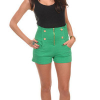 Military High-Waist Cropped Shorts | Avant-Garde Boutique