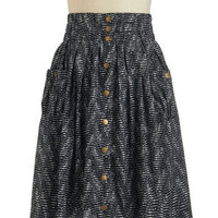 Pattern Back Time Skirt | Mod Retro Vintage Skirts | ModCloth.com