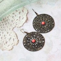 montebella disc earrings - $14.99 : ShopRuche.com, Vintage Inspired Clothing, Affordable Clothes, Eco friendly Fashion