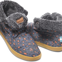 BLUE LEOPARD DENIM WOMEN'S HIGHLAND BOTAS