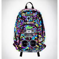 Multi Hyped Graffiti Audio Backpack