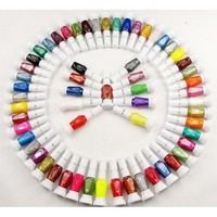 30 Colors Nail Art Two-Way Pen and Brush Varnish Polish