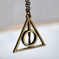 Harry potter Deathly Hallows  Antique bronze Necklace