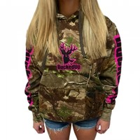Pullover Hoodie - Realtree APG Camo with Pink LogoPurchase