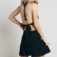 Free People Womens Cut It Out Dress - Black