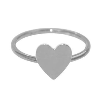 Sterling Silver Heart Stackable Ring: Personalized Boutique, Inc.