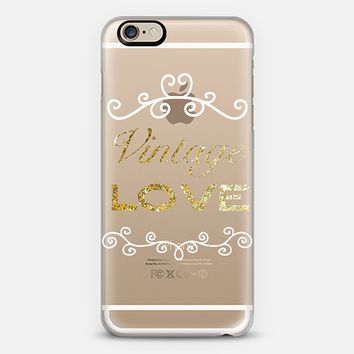VINTAGE LOVE ORNAMENTAL IN GOLD - CRYSTAL CLEAR PHONE CASE iPhone 6 case by Nika Martinez | Casetify