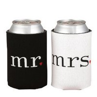 Hortense B. Hewitt Wedding Accessories Mr. and Mrs. Can Coolers Gift Set: Home &amp; Kitchen