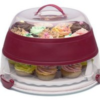 Prepworks from Progressive Collapsible Cupcake and Cake Carrier, Standard Packaging, Red