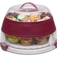 Progressive International Collapsible Cupcake and Cake Carrier: Kitchen & Dining