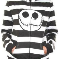 ROCKWORLDEAST - Nightmare Before Christmas, Girls Hoodie, Jack Stripes