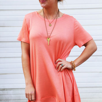 Hit The Slopes Tunic {Peach}