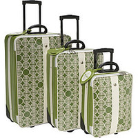 Pan Am 3 Piece Globe Print Luggage Set - eBags.com