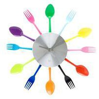 flatware wall clock - a modern, contemporary clock from chiasso