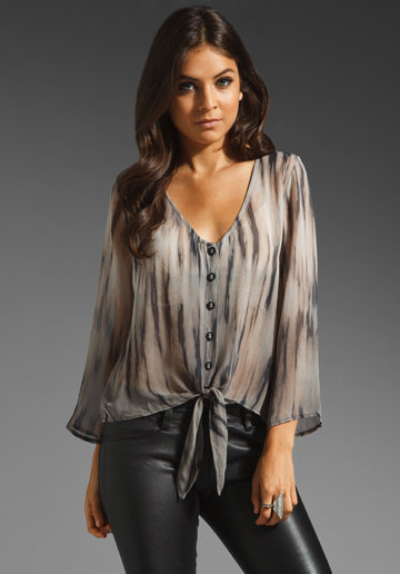 Gypsy 05 Leana Blouse in Charcoal from REVOLVEclothing.com