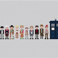 Pixel People - The Eleven Doctors - PDF Cross-stitch PATTERN