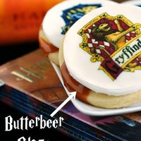 Bake at 350: Butterbeer Cookies . . . for the final Harry Potter movie !