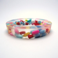 Resin Bangle Bracelet Real Pills Medication