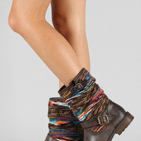 Dollhouse Yarn Buckle Mid Calf Riding Boot