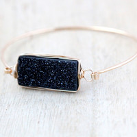 Druzy Rectangle Bracelet - Eclipse