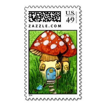 mushome - mushroom house stamps