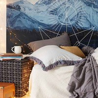 4040 Locust Geo Landscape Wall Mural- Blue Multi One