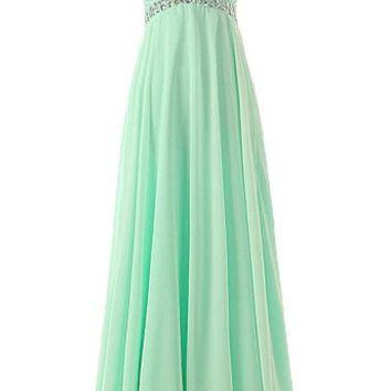 Kamilione Women's A-line Chiffon Long Party Evening Prom Dresses